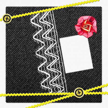 scrapbook page with rose and buttons