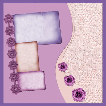 bohemian: Page with lilac elements and flowers