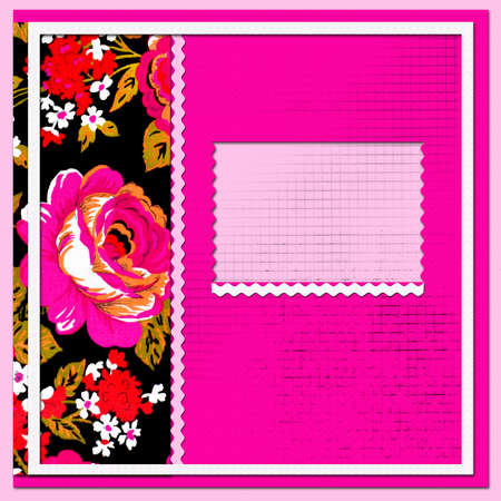 scrapbook page with beautiful flowers  photo