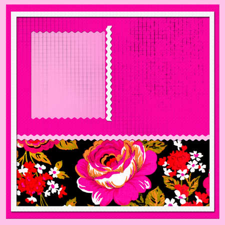 scrapbook with beautiful flowers Stock Photo - 9415031