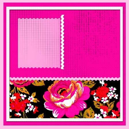 scrapbook with beautiful flowers Stock Photo - 9415031