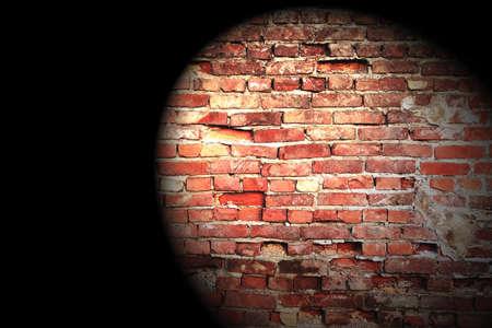 Projektor on the brick wall