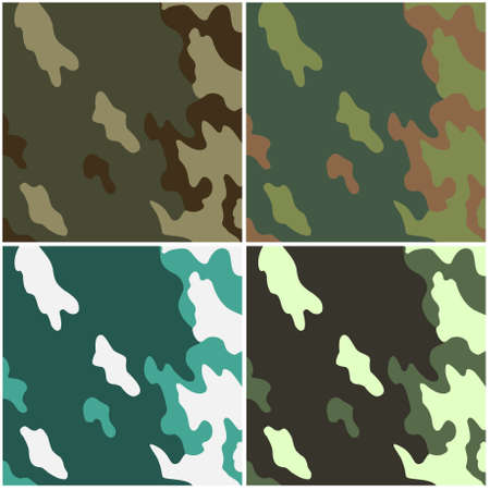 color conceal: Four examples of a camouflage