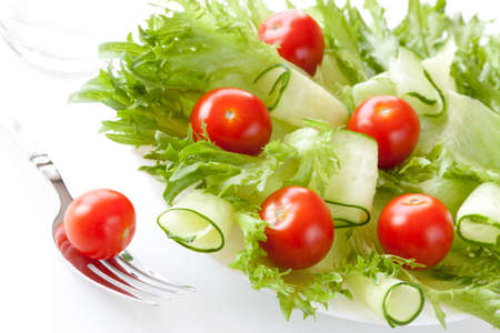 Salad with tomatos and cucumbers