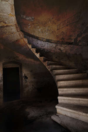 Image of old  antique staircase Stock Photo