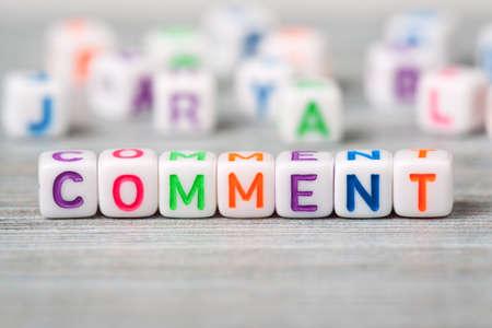 Word comment macro Stock Photo