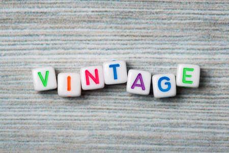 Word vintage Stock Photo