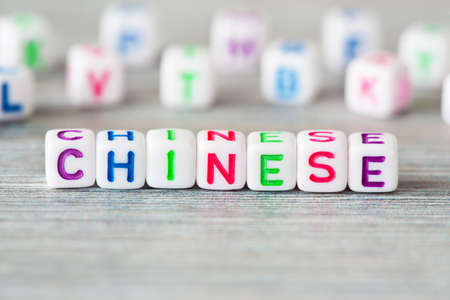The word chinese surrounded other letters