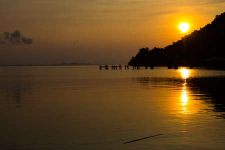duration: Sunset view of Koh Chang at twilight duration Stock Photo