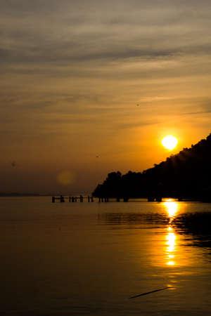 chang: Sunset view of Koh Chang