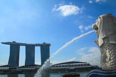 Merlion , symbol of Singapore
