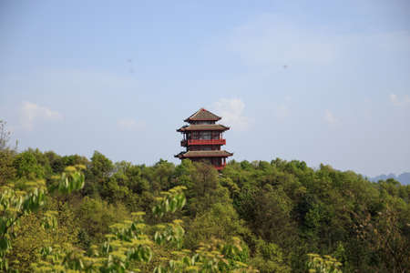 Pagoda of Tien mansan mountain photo