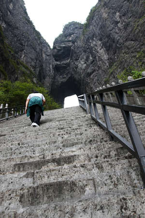 The upstair to go to the heaven door at the zenith of Tien mansan photo