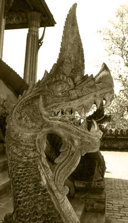 The naga of Si Saket Temple  photo