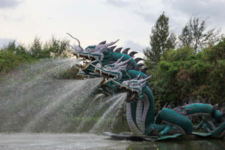 siam: Fountain of dragon at Ancient Siam