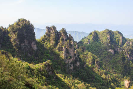 Horizontal landscape view of the mountain in Tien mansan photo