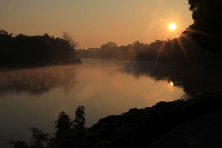 Sunrise at Dusit Island,Chiang Rai photo