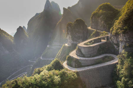 high dynamic range: The path to heaven door at Zhangjiajie