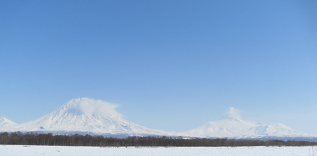 volcanoes Home. winter