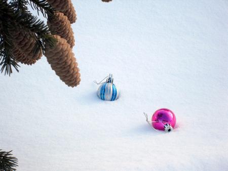 Pine cones and Christmas Toy Фото со стока - 50817724