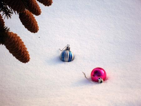 Pine cones and Christmas Toy Фото со стока - 50817744