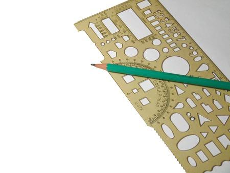 Ruler and pencil Фото со стока - 50817741