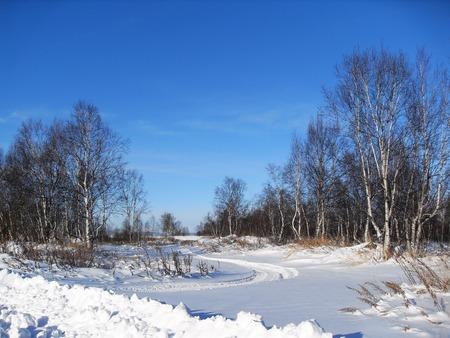 Trace snowmobile Фото со стока - 51110100