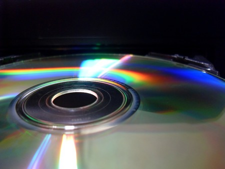 The play of light on the CD