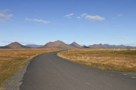 lonliness: iceland highland Stock Photo
