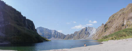 crater lake: Pinatubo crater lake Stock Photo
