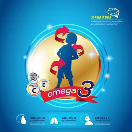witaminy: Dzieci Omega 3 Concept