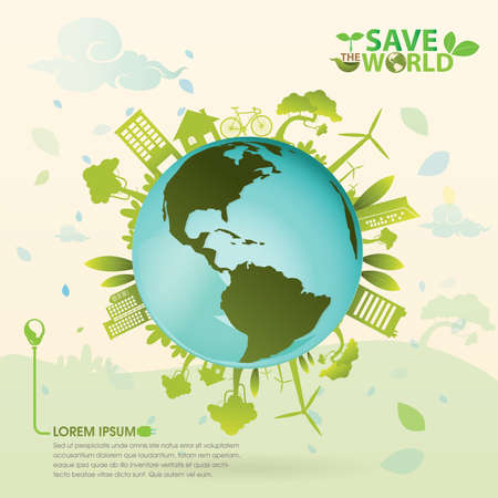 alternative energy: save the world Illustration