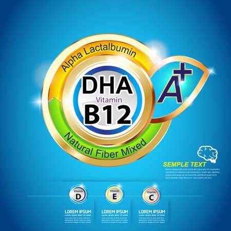 vitamina a: Omega 3 Ni�os vitamina Vectores