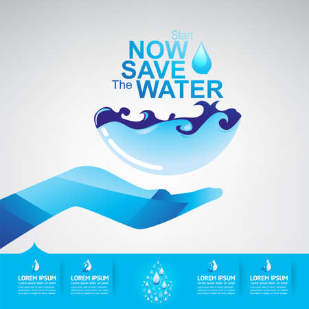 and water: Save Water Illustration