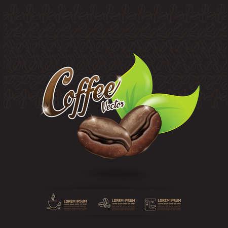 coffee bean: Coffee Bean Vector Template Illustration