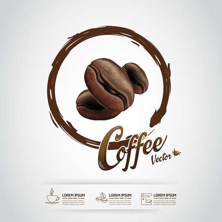 Coffee Bean Vector Template Illustration