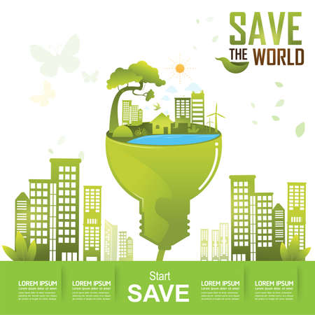 to go: Save the World Concept Start Saving