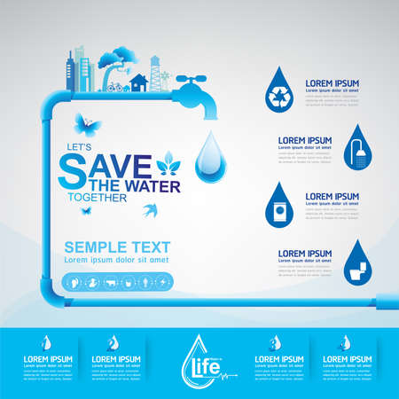 water icon: Save Water Vector