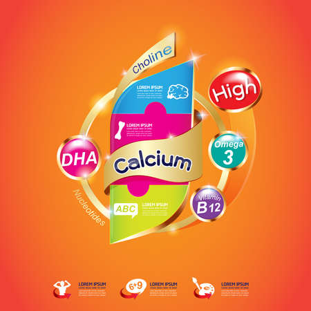 vitamins: Kids Omega Calcium and Vitamin