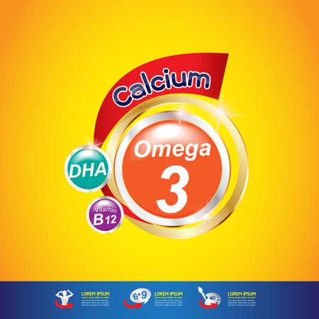 Niños de Calcio y Vitamina Omega