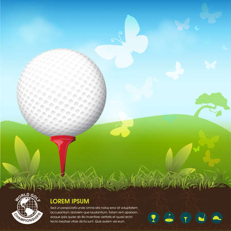 tournament: Golf Tournament World Vector Concept