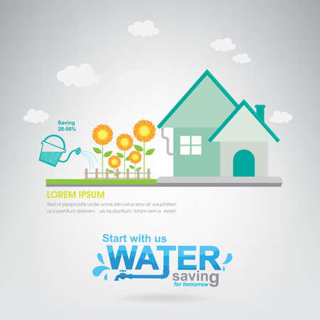 ecological environment: Save The Water Vector Ecology Concept