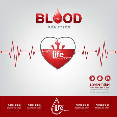 empezar: Donaci�n de Sangre del vector Concepto - hospital para comenzar nueva vida otra vez Vectores