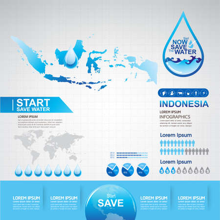 saving: Save Water Vector