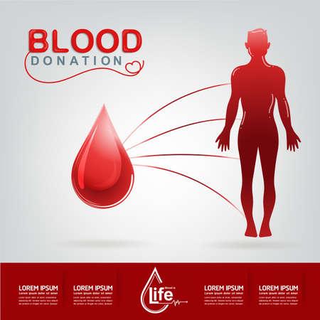empezar: Donación de Sangre del vector Concepto - hospital para comenzar nueva vida otra vez Vectores