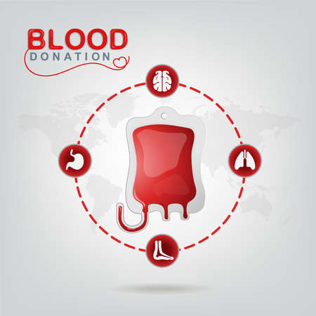 new life: Blood Donation Vector Concept - Hospital To Begin New Life Again