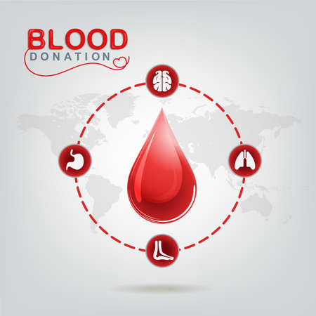 begin: Blood Donation Vector Concept - Hospital To Begin New Life Again