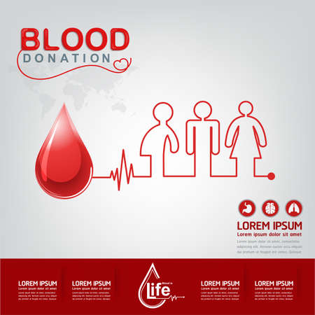 donating: Blood Donation Vector Concept - Hospital To Begin New Life Again