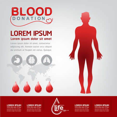 again: Blood Donation Vector Concept - Hospital To Begin New Life Again