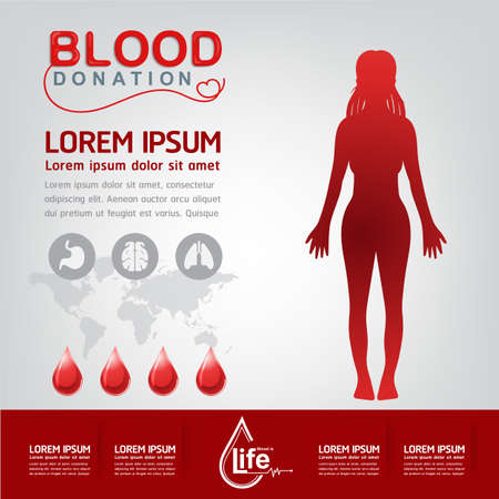 give: Blood Donation Vector Concept - Hospital To Begin New Life Again